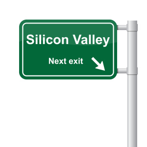 Silicon Valley next exit green signal vector