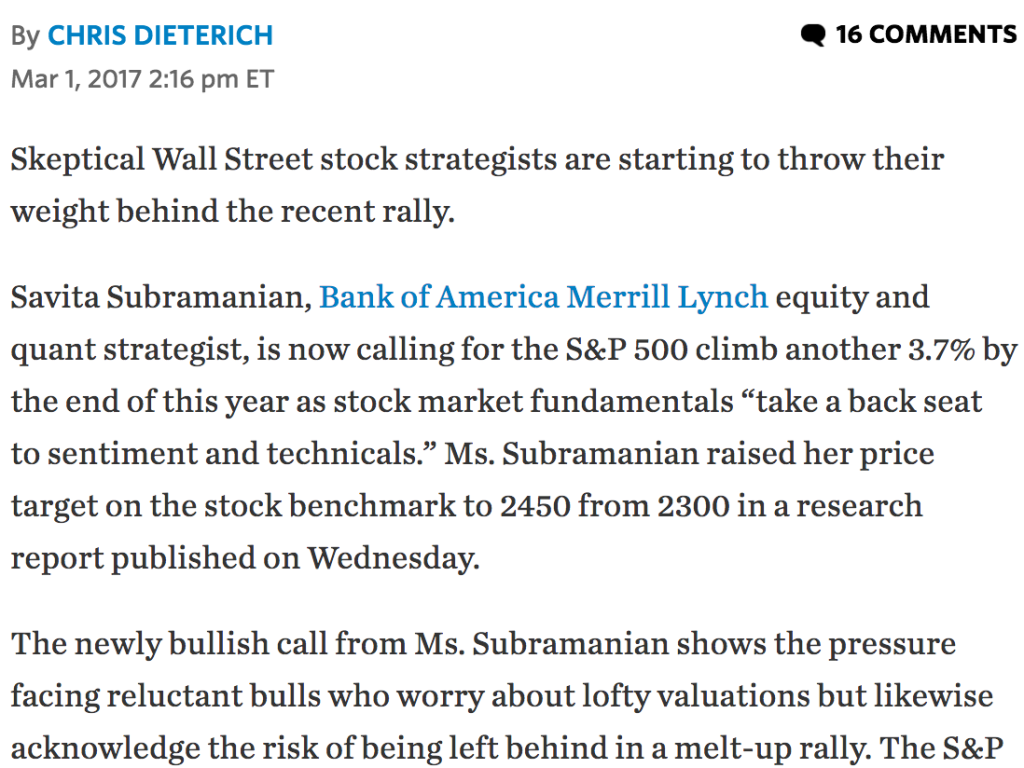 WSJ Article on Dow 20000